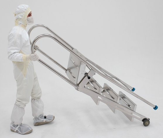 BioSafe® Cleanroom Ladders are Steel Workhorses