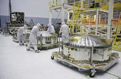 NASA Webb telescope clean room