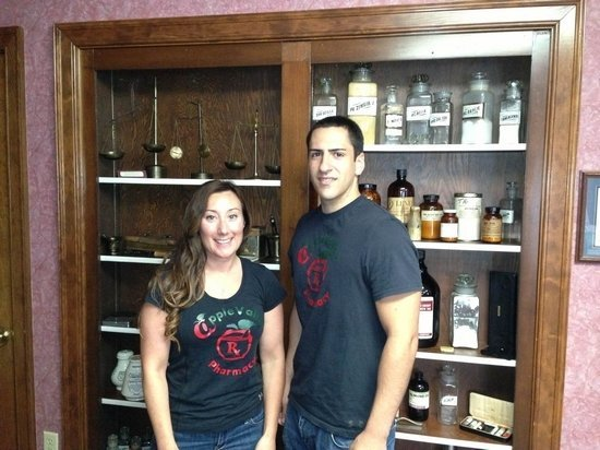 AnnMarie Cloutier, PharmD, and Joey Graziadio, pharmacy technician, attend American College of Veterinary Pharmacy to introduce innovative methods of preparing customized compounded medications to veterinary patients of Apple Valley Pharmacy.