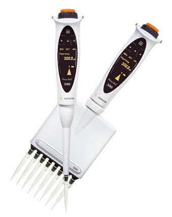 Electronic pipettes by Sartorius.