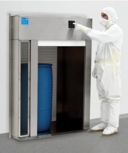Terra Roll-Up Pass-Through Chamber to transfer large objects into a controlled environment
