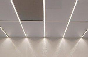 Terra Universal Cleanroom Ceiling Grid LED Light Strips