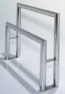 Terra Universal Biosafe Stainless Steel Cleanroom Lean-rail
