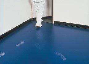 Terra Universal Cleanroom Floor Mat with footprints
