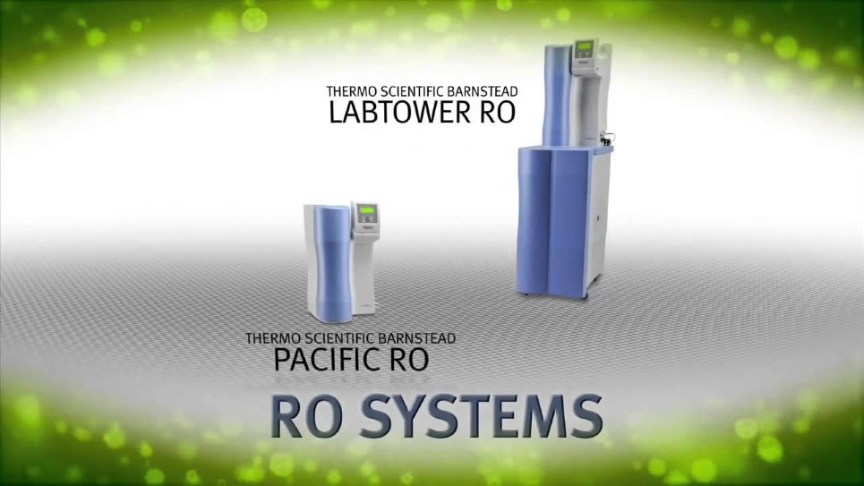 Overview of Barnstead-brand water purification systems available from Thermo Scientific