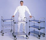 MW Series 100 Stainless Steel Utility Carts by InterMetro